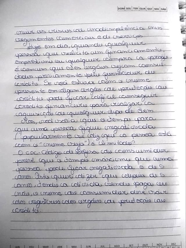 SISTEMA DE CONSULTA DE PROTEÇÃO AO CRÉDITO - EDUCADORA SOCIAL CASSANDRA VELHO PEREIRA